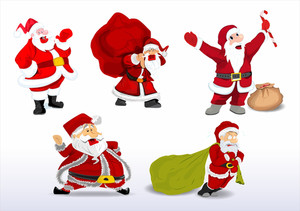 Cartoon Santa Vectors