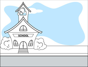 Cartoon School House