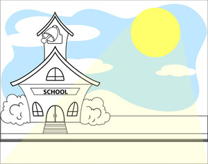 Cartoon School Vector Background