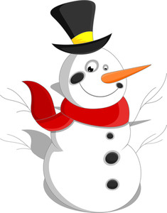 Cartoon Snowman - Christmas Vector Illustration