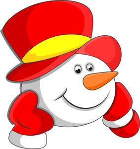 Cartoon Snowman Head