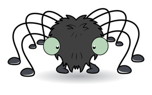 Cartoon Spider - Halloween Vector Illustration