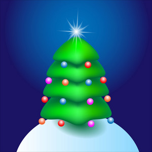 Cartoon Tree With Star
