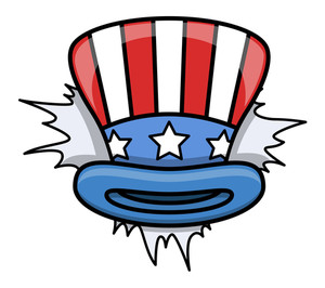 Cartoon Uncle Sam Hat