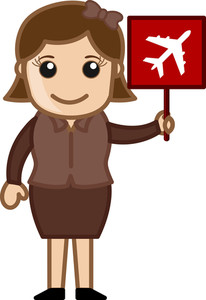 Cartoon Vector - Aeroplane Sign