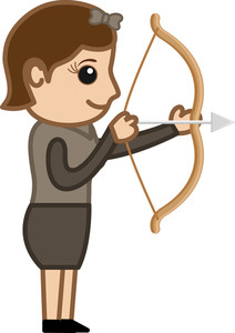 Cartoon Vector Character - Archer