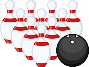 Cartoon Vector Character -  Bowling