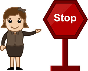Cartoon Vector - Stop Sign