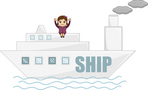 Cartoon Vector - Travel By Ship