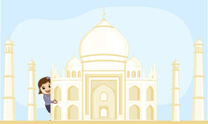 Cartoon Vector - Travel India