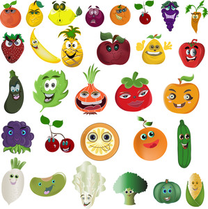 Cartoon Veggies