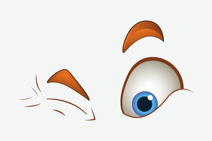 Cartoon Winking Eyes