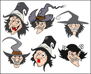 Cartoon Witch Vector Illustrations