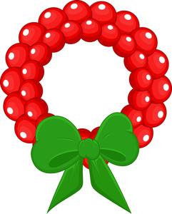 Cartoon Wreath - Christmas Vector Illustration