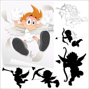 Cartoons Cupid Vectors