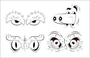 Cartoons Eyes Vectors