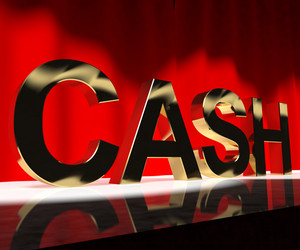 Cash On Stage As Symbol For Currency And Finance Or Acting Career