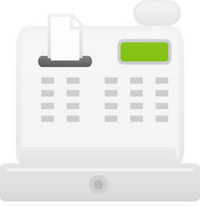 Cash Register Lite Communication Icon