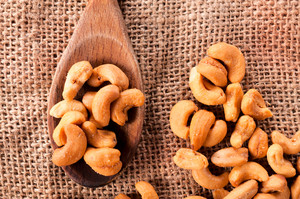Cashew Nuts And Spoon