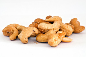 Cashew Nuts Isolated On The White