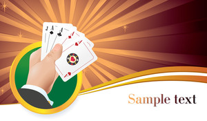 Casino Abstract. Vector Template.