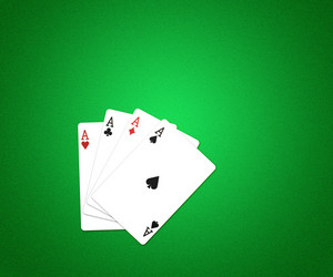 Casino Cards Background Green Texture