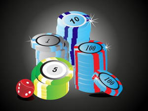 Casino Chips Vector Illustration
