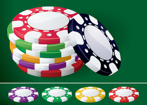 Casino Chips. Vector.