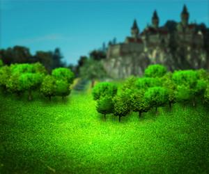 Castle On Hill Fantasy Backdrop