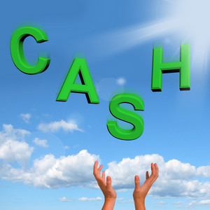 Catching Cash Letters As Symbol For Currency And Finance