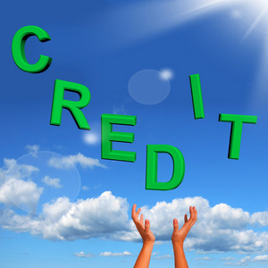 Catching Credit Letters As Symbol For Financial Loan