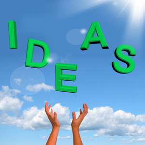 Catching Ideas Word Showing Concept Or Creativity