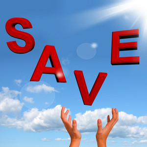 Catching Save Word As Symbol For Discounts Or Promotion