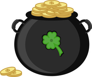 Cauldron On St. Patrick's Day Vector Illustration