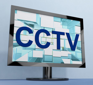 Cctv Monitor For Security Surveillance To Prevent Crime