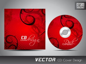 Cd Cover Design Template With Copy Space.