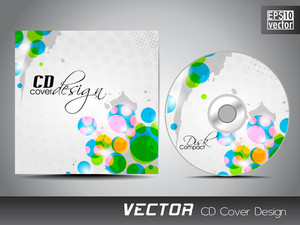 Cd Cover Presentation Design Template With Copy Space And Circal Effect