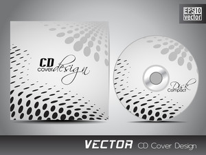 Cd Cover Presentation Design Template With Copy Space And Halftone Effect