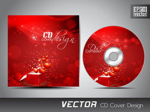 Cd Cover Presentation Design Template With Copy Space And Love Concept