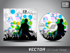 Cd Cover Presentation Design Template With Copy Space And Music Concept Effect