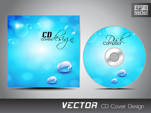 Cd Cover Presentation Design Template With Copy Space And Water Effect