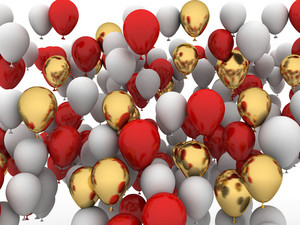 Celebration 3d Balloons Background