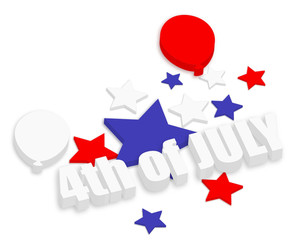 Celebration 4th Of July Vector Theme Design