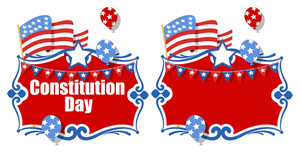 Celebration Background Banner  Constitution Day Vector Illustration