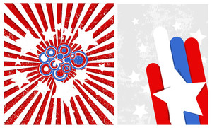 Celebration Backgrounds Patriotic Usa Theme Vector