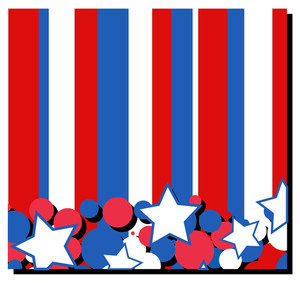 Celebration & Stars Usa Independence Day Vector Theme Design