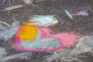 Chalk Art Design Background
