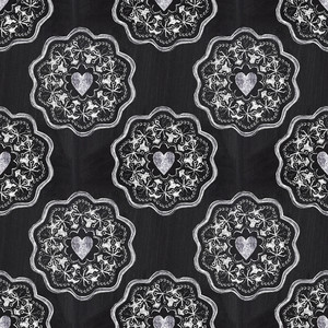 Chalkboard Romantic Seamless Pattern With Hearts