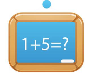 Chalkboard With Math Problem