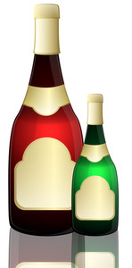 Champaign Bottle Vector Illustration